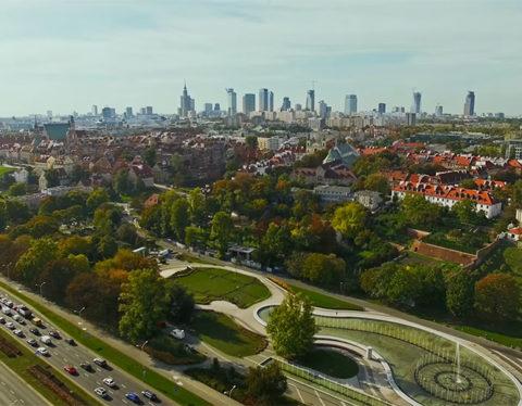Warszawa z drona