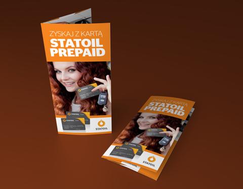 """Ulotka """"Zyskaj z kartą Statoil Prepaid"""" - Statoil"""